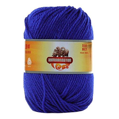 Phoenix wonder filato morbido di alta qualità al 100% morbido di lana d'agnello filato rapido di alta qualità, blu navy
