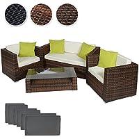 TecTake Set di mobili rattan alluminio arredamento giardino +2 Set