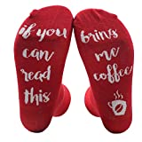 Vookies Red : Himozoo Unisex Cotton Socks IF YOU CAN READ THIS BRING ME A BEER Socks