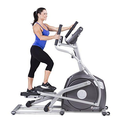 Spirit Fitness xe795Crosstrainer Cross Trainer, Fitness, Bewegung, Fitnessstudio, MP3-Audio Jack und Lautsprecher, Blau beleuchtetes LCD-Display, 12Trainingsprogramme, 40Widerstandslevel, eingebauter Ventilator, robusten Rahmen - 3