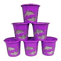 Keurig 2.0 Reusable/Refillable K Cup Coffee Filters fits Brewers K200 K250 K300 K350 K400 K450 K460 K500 K550 K560 with Permanent Stainless Steel Micro Mesh 6-Pack