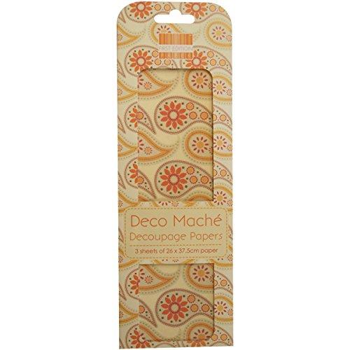 first-edition-papel-mache-para-manualidades-diseno-de-cachemira-color-naranja