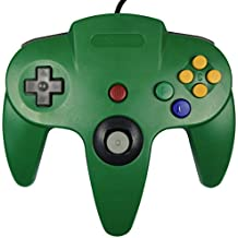KEESIN Cableado Joystick controlador de consola de juegos para Nintendo 64 N64 verde
