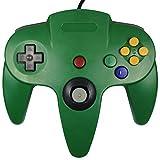 KEESIN Verdrahtet Video Gamepad Spielkonsolen Controller Joystick für Nintendo 64 N64 (Grün)