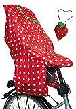 Lunari Kinder Fahrradkindersitz Regenschutz Lucky Cape Quick 2-in-1 Berry, Rot/Weiß, One Size, 023030