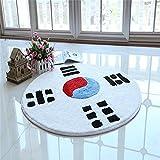 Jack Mall- Tai Chi Yin und Yang Feng Shui Fisch Zeichnung Schwarz-Weiß-Teppich Klatsch Runde-Slip Matten Kissen Pad Gesundheit Praxis ( Farbe : Weiß , größe : Diameter 180cm )