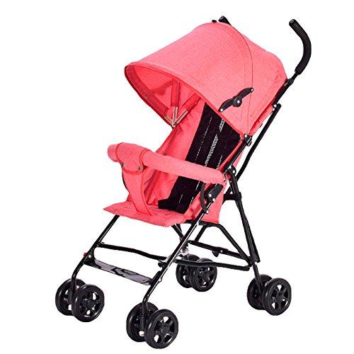 GYGYGY Cochecito De Bebé Ultraligero - Carrito De Cuatro Ruedas para Bebés Plegable Carro Pequeño Paraguas Deportivo Antihumpback DE 1-3 Años De Antigüedad,Pink