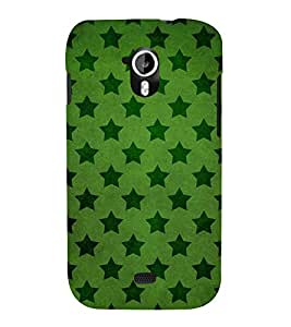 DARK GREEN STARS IN LIGHT GREEN BACKGROUND 3D Hard Polycarbonate Designer Back Case Cover for Micromax Canvas HD A116::Micromax Canvas HD Plus A116Q