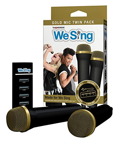 We Sing Mikrofon Bundle gold (2er Pack) + USB Hub