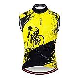 WOSAWE Gilet da Ciclismo Riflettente Senza Maniche Giacca da Ciclismo per Uomo Bicicletta Ultraleggero e Gilet Antivento, Biker L