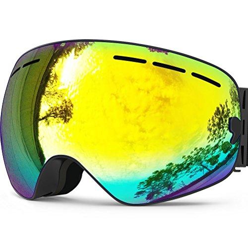 ZIONOR Lagopus X Snowmobile Snowboard Skate Skibrillen mit und Weitwinkel Anti-Nebel for Jungs Jugendliche Junior Kinder Damen Frauen Männer Jungen Mädchen Skibrillen auf Amazon