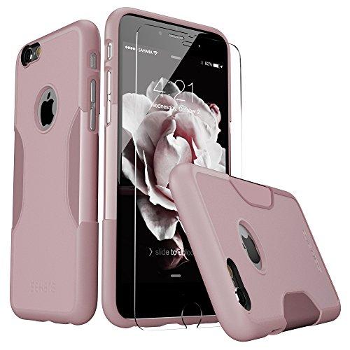 iPhone 6 Hülle, (Rosengold) SaharaCase Schutz Kit Paket mit Null Schaden [ZeroDamage gehärtetes Glas Bildschirmschutz] Robuster Schutz Anti-Rutsch-Griffigkeit [Stoß sicherer Puffer] Schlanke Passform iphone 6s (Iphone 6 Att 16gb Verwendet)