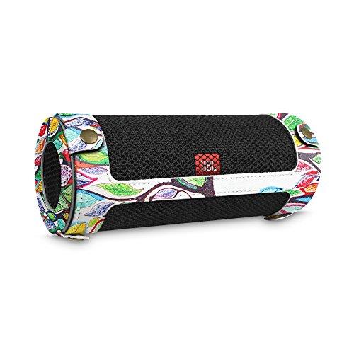 Fintie JBL Flip 4 Tragbare Lautsprecher Hülle Abdeckung - Hochwertiges Kunstleder Schutzhülle Tasche Case mit Karabinerhaken für JBL Flip4 Tragbare Lautsprecher, Liebesbaum