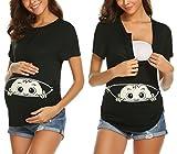 MAXMODADamen Baby in der Tasche T-Shirt Top Oberteil für Schwangere