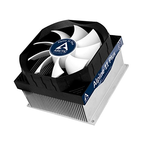 ARCTIC Alpine 11 Plus - Cooler CPU compatible con Intel. Ventilador PWM de 92 mm ultra silencioso, fácil instalación, masilla térmica incluida.