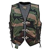 Textil Bikerweste in camouflage Rockerweste Motorradweste Kutte (L)