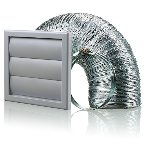Aluminium-vent Pipe (Blauberg UK bb-chk-125–3-vjgr 125mm Dunstabzugshaube Duct Shutter Vent Kit Fan Extractor–Grau)
