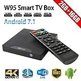 Sawpy W95 Android TV Box Android 7.1 Smart TV Box 64bit Quad Core CPU 2GB +16GB 4K UHD WiFi & LAN VP9 DLNA H.265