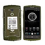 Rugged Smartphone 4G,HOMTOM ZOJI Z7 Metallic IP68 Waterproof SIM Free Mobile phone Unlocked Android 6.0 - MTK6737 Quad Core 1.3GHz,Dual Camera 8MP + 5MP,2GB RAM + 16GB ROM,5.0 inch Corning Gorilla Glass Screen,Fingerprint Unlock,Dual Sim,GPS (Green)