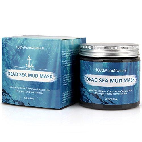 Wotek Gesichtsmaske Totes Meer Maske Schlamm Mitesser Maske für Trockene Empfindliche Fettige Haut Gesichtsmasken & -kuren Pickel Frauen Natur für Gesicht und - Akne Salz, Meer