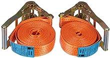 Braun 2000-1-600/VE2 - Cinghia 4000 Dan, Monopezzo, Lunghezza 6 m, Larghezza 50 mm, con Dente di Arresto, unità di Confezione: 2 Pezzi, Colore: Arancione