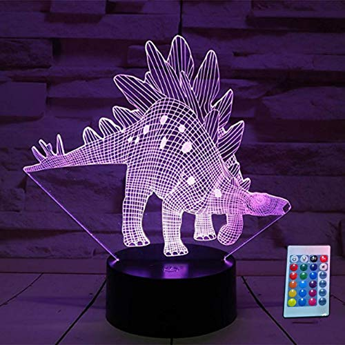 Ferrell LED Night Light with Remote Control 3D Dibujos Animados Animals Diseño Desk Lamp Home Decoration Kid Gift, Dragon