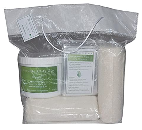 NCC Inch-loss Body Wrap Kit. Belly, Thighs, Arms, Buttocks *500ml with complimentary Organza bag