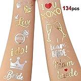 Howaf 134 Tatouage EVJF, Team Bride Tatouages Éphémères Bride Tatouage Enterrement De Vie De Jeune Fille Accessoire Decorations Mariage
