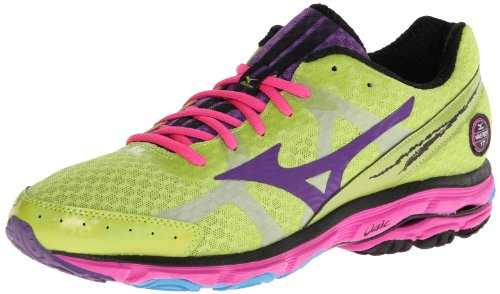 Mizuno Women's Wave Rider 17 Running Shoe Citron Vert