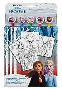 Undercover FRUW1300 - Bloc de Dibujo con 5 lápices de Colores, diseño de Frozen II, Multicolor