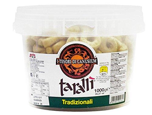I tesori di canusium ce'taradd secchiello tarallì tradizionali, 1000 gr
