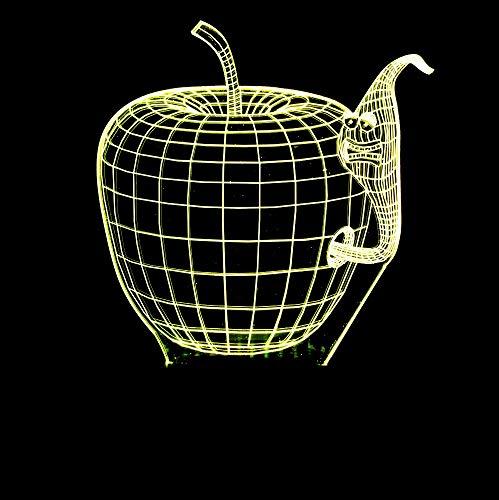 Mmzki 3D Apple Forme Bug Nuit Lumières Changeantes De Couleur Usb Led Lampe De Table Visuel Nouveauté Rêve Éclairage Luminaire Luminaire Lampe