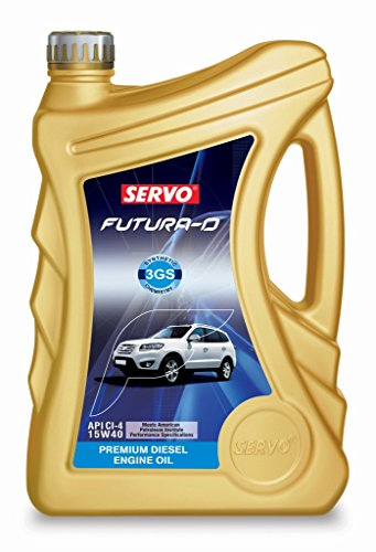 Servo Futura D 15W-40 Diesel Engine Oil for New Generation Cars and SUV's (4 L)