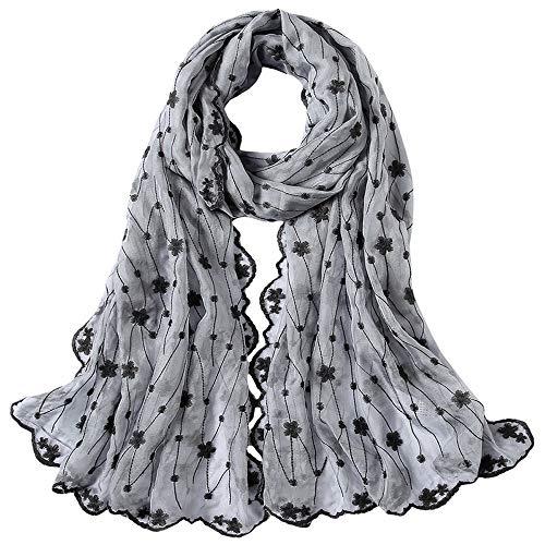Junjiagao Halstuch aus Seide Sehr leichtes, feines und weiches Gewebe Stilvolle und Zeitlose luxuriöse Vollendung für jedes Outfit (Farbe : 1, Größe : 185cm*60cm)