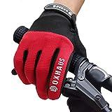 DOXHAUS Fahrradhandschuhe Atmungsaktive rutschfeste und Stoßdämpfende Mountainbike Handschuhe, Herren Damen Touchscreen Lange Fingerhandschuhe fürs Mountainbike, Rennrad, Wandern L