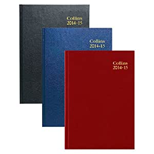 Collins 2014-2015 academic midyear diary casebound A5 week to view