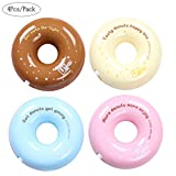 Aipark 4PCS creativo donut design nastro di correzione (colore casuale), 8 m * 5 mm