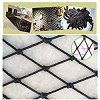 BHH Black Stair Balcony Child Net Protection Safe Black Decor Nettinng Anti-fall Rope Net Building Isolation Net Home Outdoor Kindergarten Climbing Rope Thick 8mm+mesh 15cm (Size : 4x4m)