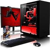 VIBOX Hardline GL770T-215 Gaming PC Computer mit Spiel Bundle, 28 Zoll 4K Monitor (4,5GHz Intel i7 Quad-Core, Nvidia GeForce GTX 1070 Ti Grafikkarte, 32Go DDR4 RAM, 240GB SSD, 3TB HDD, Ohne OS)