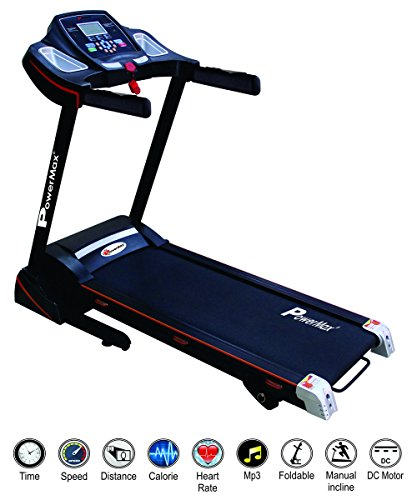 Powermax Fitness TDM-100S 1.5HP (3HP Peak) Motorized Treadmill with Jump wheels and auto-lubrication (Warranty: Motor - 3 yrs; Other parts - 1yr)