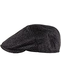 Black Cashmere Flat Cap
