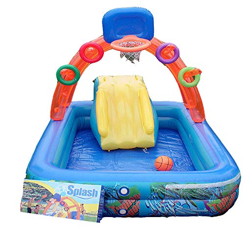 gengyouyuan Multifunktions-Pool Folie Taifun Pool Basketball Hoop Kinderbecken 188 * 137 * 34 cm (Senden der Fußpumpe)