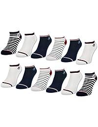 6 oder 12 Paar Damen Sneaker Socken Maritim Damensocken Ringel Punkte Muster - 36736 - sockenkauf24