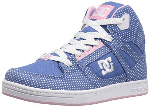 DC Rebound TX Se Skate Shoe (Little Kid/Big Kid) Blue/White Print