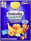 Bebivita Kinder-Spaß Banane, Apfel & Aprikose mit Joghurt im Quetschbeutel ab 1 Jahr, 4x90g, 360 g