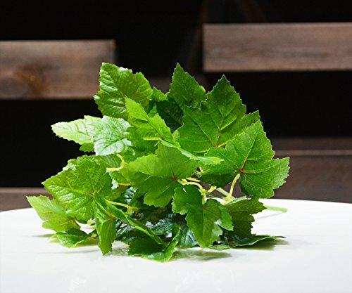 ZZJJWW Hohe Simulation Blatt Simulation Pflanze Grün Fälschung Blatt Weinblatt Kunststoff Pflanzenwand, Grün (Kleines Weinblatt)