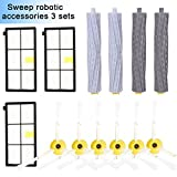 Accessories Kit for iRobot Roomba 800 900 Series 805 850 860 861 864 866 870 871 880 885 890 960 966 980 990 Replacement Parts Replenishment iRobot Set Hepa Filter Side Brush Roller