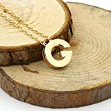 MENGZHEN Halskette mit Buchstabenanhänger aus Legierung, kreativ montierbar, Schmuck für Damen Gilrs