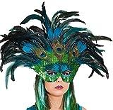 Paradiesvogel Pfau Maske zum Kostüm Karneval Fasching