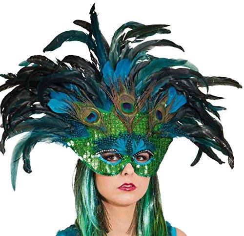 paradiesvogel pfau maske zum kost m karneval fasching. Black Bedroom Furniture Sets. Home Design Ideas